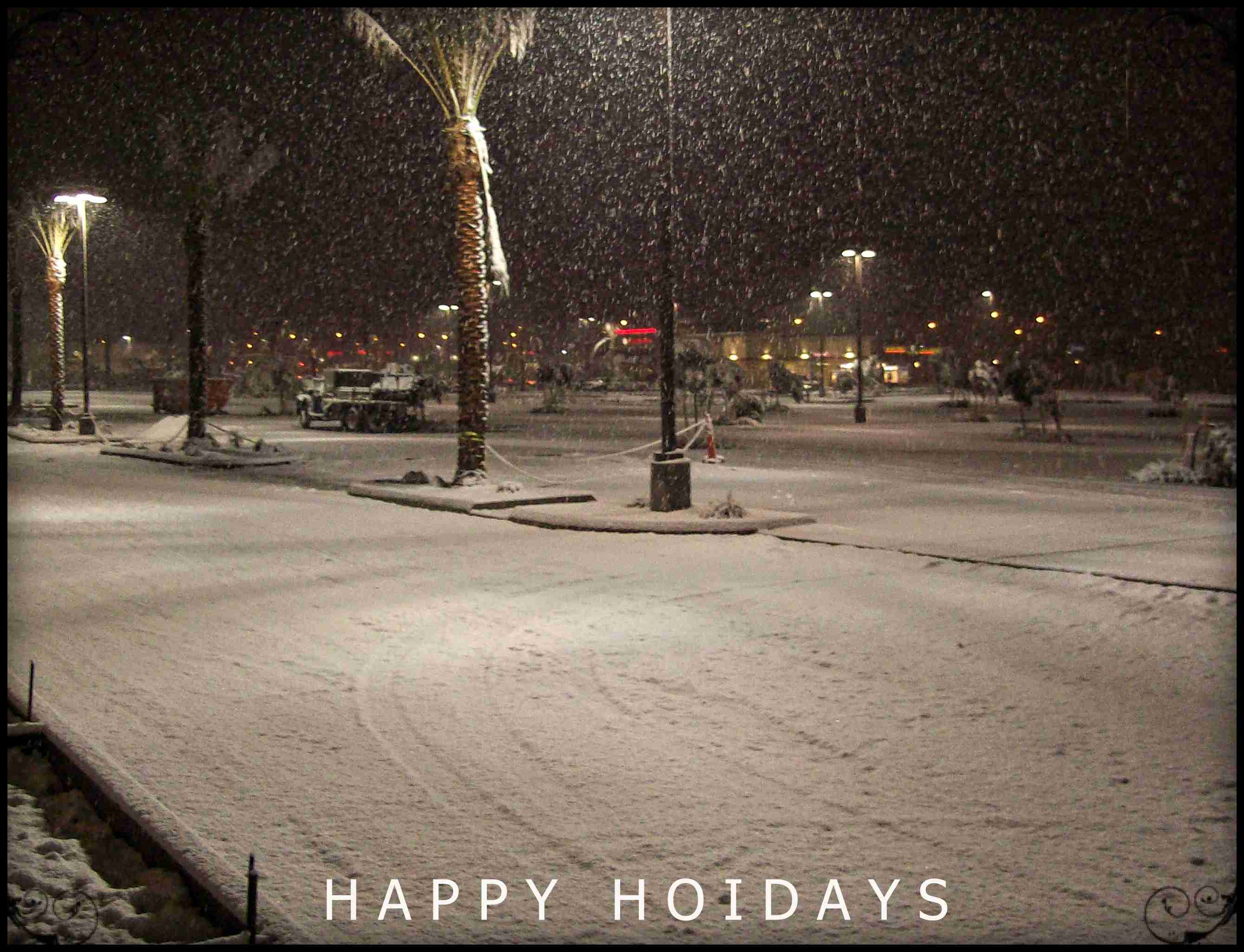 Happy holidays and a season greetings from our family to yours snow fall in las vegas m4hsunfo